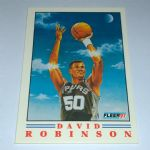1991-92 Fleer Pro-Visions San Antonio Spurs Basketball Card #1 David Robinson